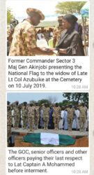 Widows and troops at Military Cemetery in Maimalari Borno State