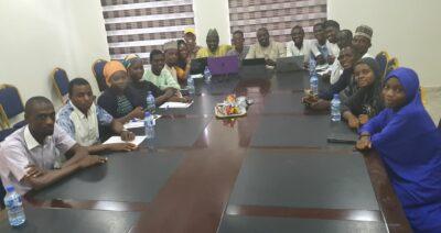 JaafarJaafar with Mass Communications Students at PRNigeria Centre Kano