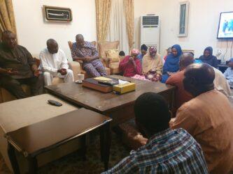 Dasuki Family Members and Well-Wishers praying