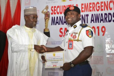Mr Agbili Anambra Fire Fighter receives Certificate of Excellence at SAEMA event in Abuja
