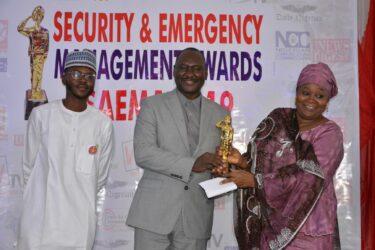 BOSEMA Chairperson receives SAEMA Golden Award in Abuja