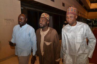Special Guests, Jaafar Jaafar, Dr. Gwandu and Mallam Sule Yau Sule at at SAEMA Awards in Abuja