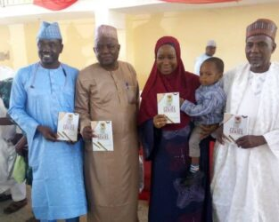 Fatima with Guests at Launching of the Virtues Series in Abuja