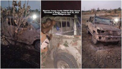 Nigerian Troops Tackle Terrorists at Wulgo April 2021