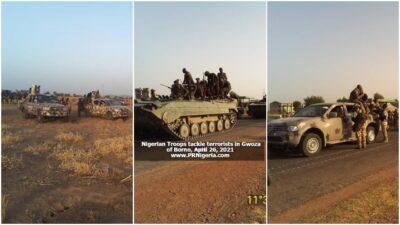 Nigerian Troops in Gwoza Axis April 2021