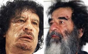 Gaddafi of Libya and Saddam of Iraq