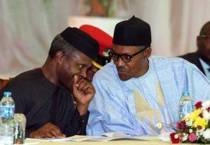 President Muhammadu Buhari and VP Yomi Osinbajo